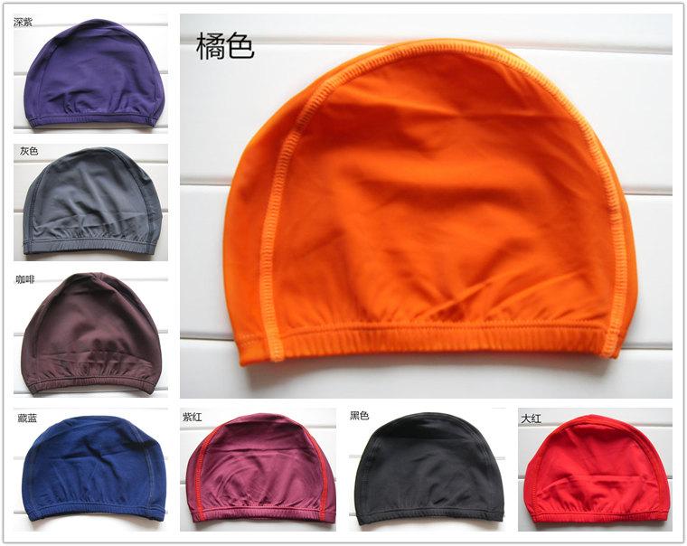 純色萊卡泳帽 成人/大童 高檔布帽 素色/單色泳帽高檔面料