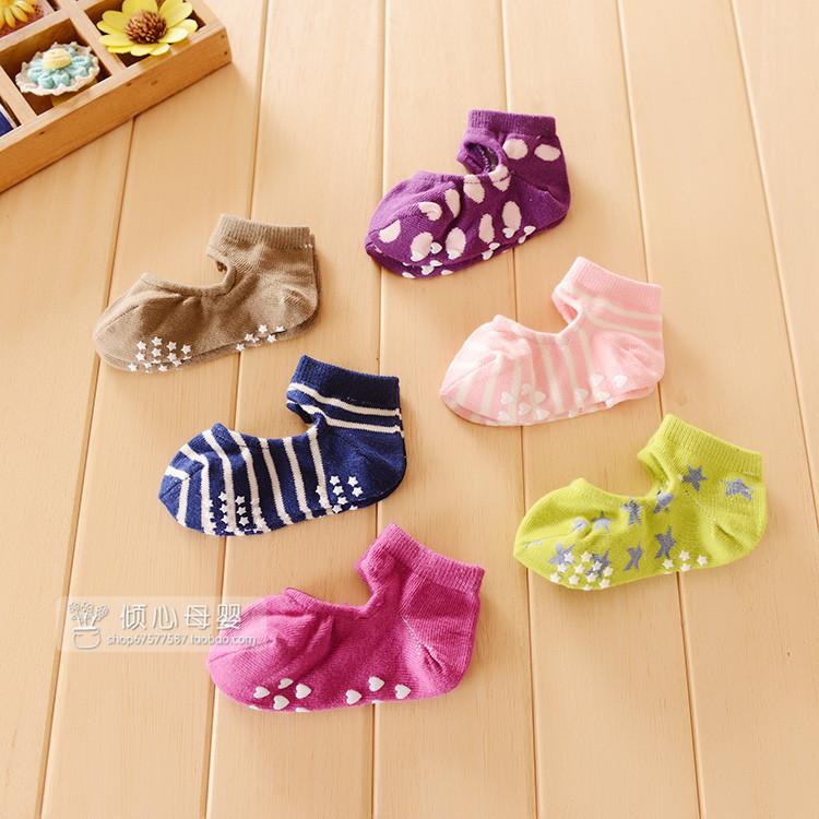夏季新品船襪寶寶假鞋襪子可愛兒童地板棉襪嬰兒防滑膠點襪三雙入