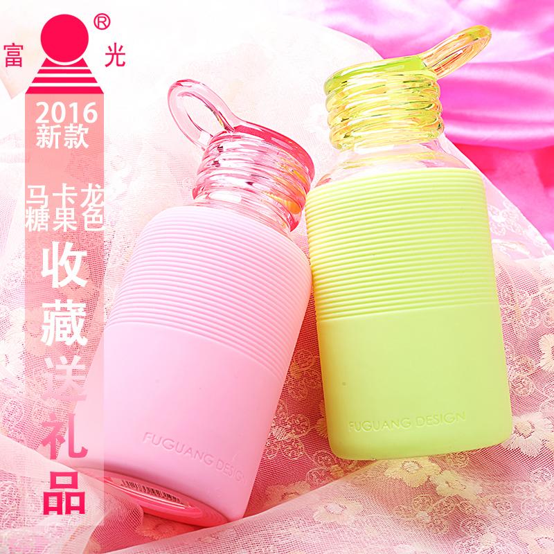 富光單層玻璃杯 可愛便攜時尚防漏男女士學生水杯子 彩色創業茶杯