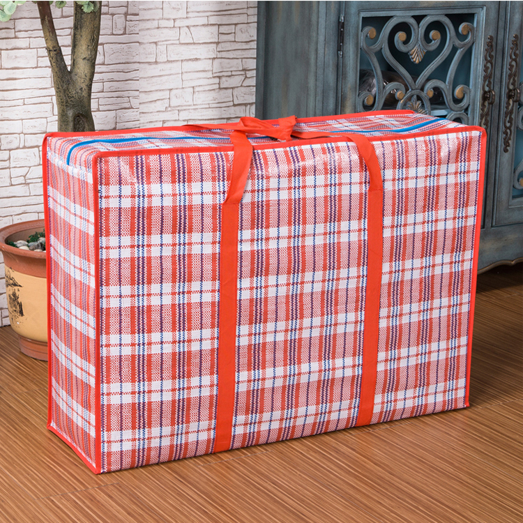 特大编织袋搬家 打包袋蛇皮袋防水红白蓝编织袋加厚收纳袋行李袋