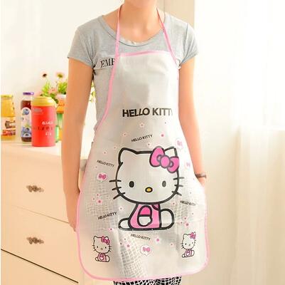 可愛卡通hello kitty凱蒂貓圍裙 防水 防油 廚房用居家女士用