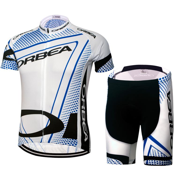 特價包郵 ORBEA白色騎行服短套裝短上衣短褲單車衫騎行裝備批零