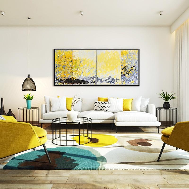 現代簡約客廳抽象畫客廳裝飾畫沙發背景墻抽象油畫 美國西部森林