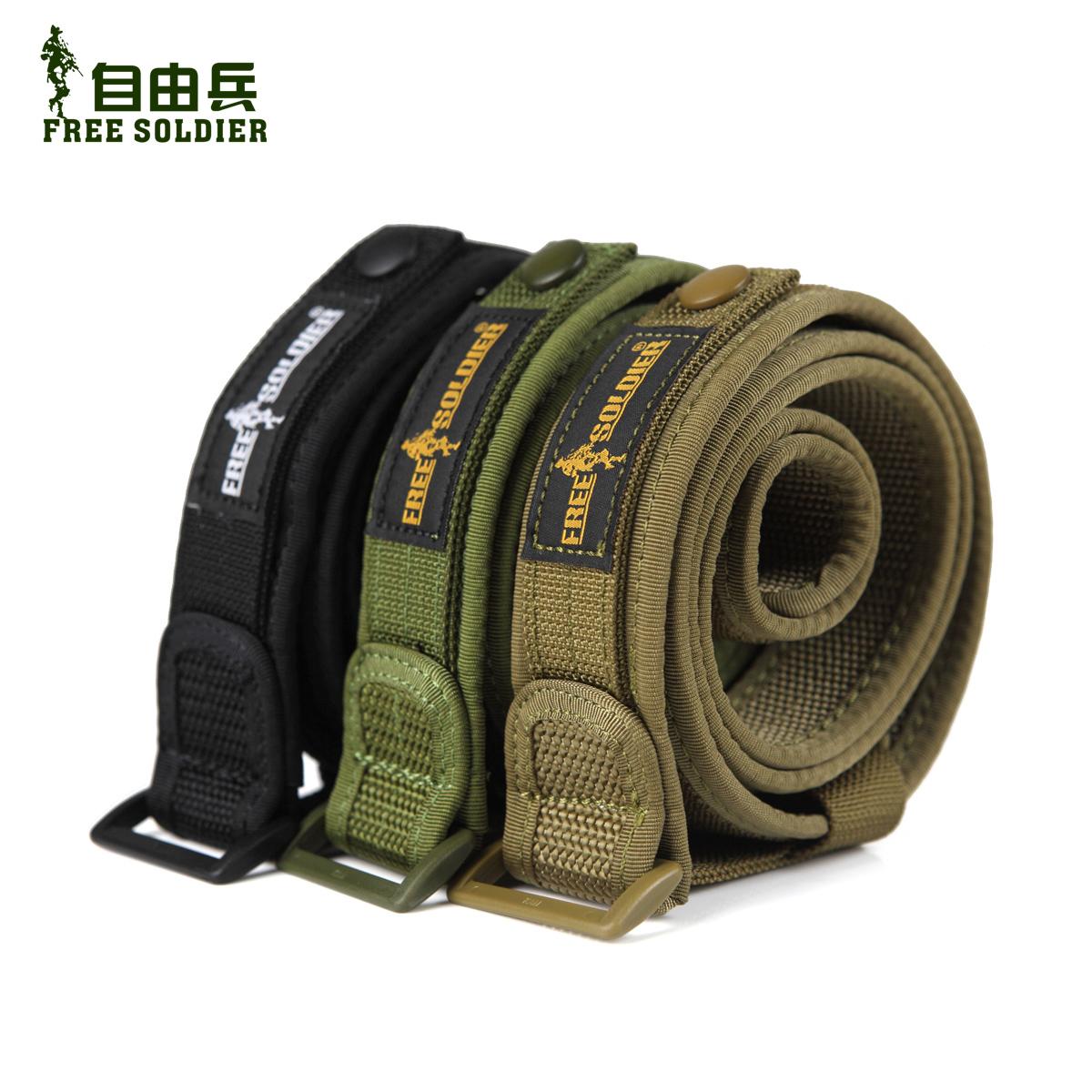 自由兵 户外战术腰带 男 户外尼龙内腰带 休闲裤带 军迷用品装备