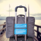 The foldable bag hand luggage bag female short trip boarding bulk bag may cover canvas Trolley