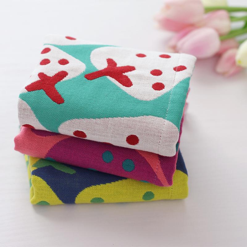 智陽紗布純棉方巾卡通寶寶洗臉小毛巾兒童吸水手帕嬰兒面巾