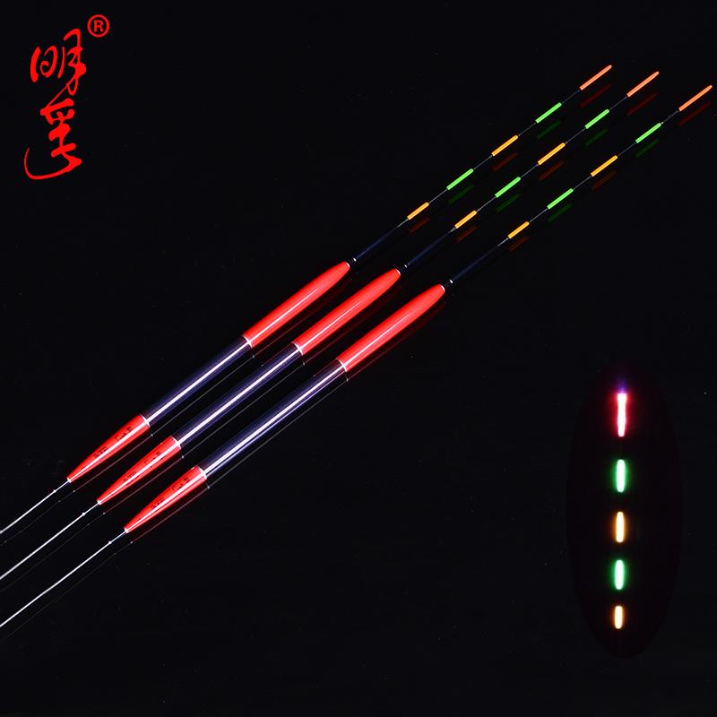 夜光漂 水無影 超亮明孚奈米電子夜光漂超大浮力電子標夜釣鯽魚漂