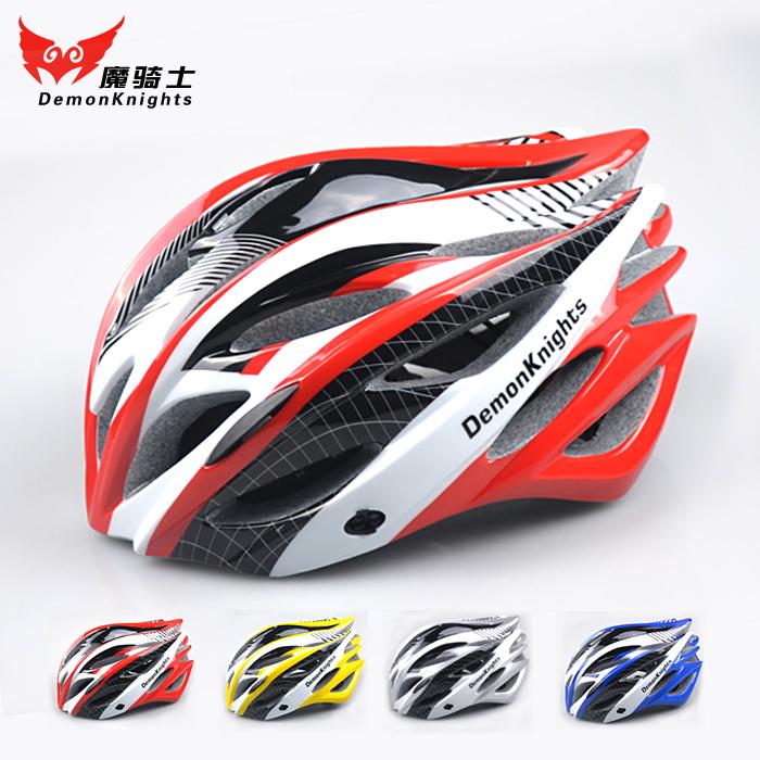 魔騎士自行車頭盔 一體成型山地車安全頭盔帶防蟲網騎行裝備配件