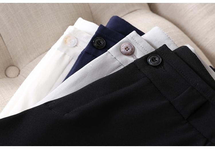 日本进口面料9分裤抗皱显瘦小脚裤烟管裤 职业干练型OL九分休闲裤