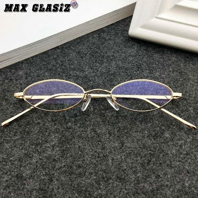 神器 X 欧美复古水滴椭圆框太阳镜小框猫眼墨镜全金属平光镜挂鼻装