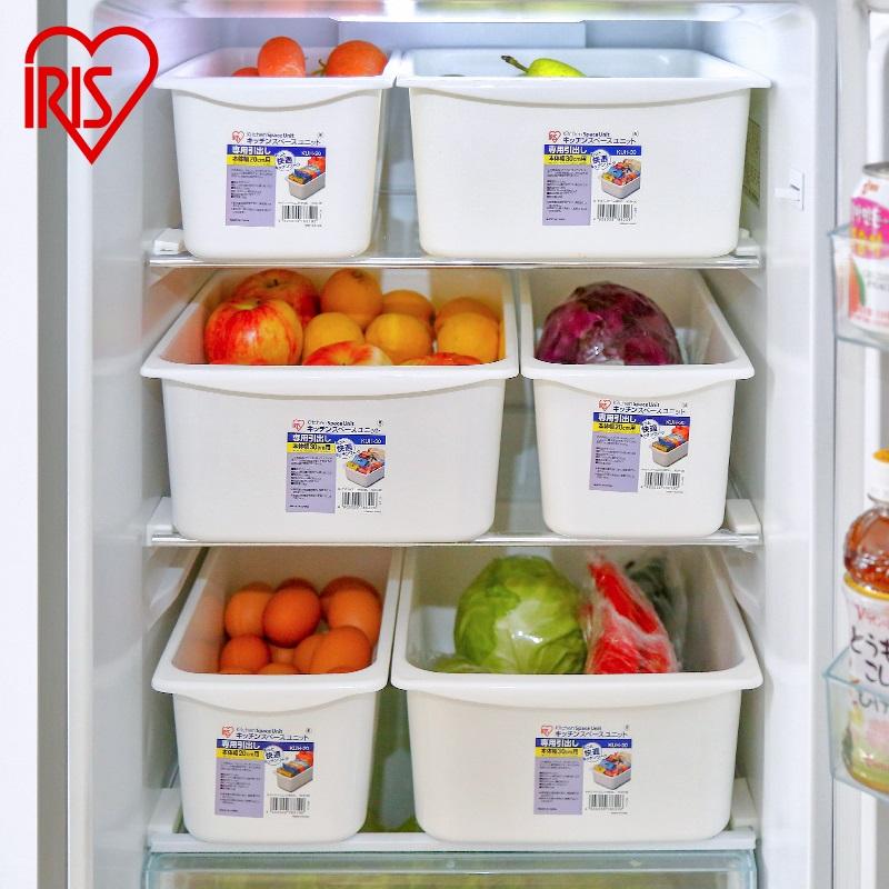 愛麗思日本冰箱儲物盒廚房食品蔬菜雞蛋置物整理盒櫥櫃抽屜收納盒