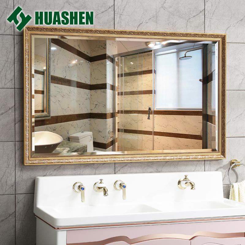 华申欧式雕花卫浴镜大浴室镜壁挂防水卫生间镜子化妆镜洗手间镜