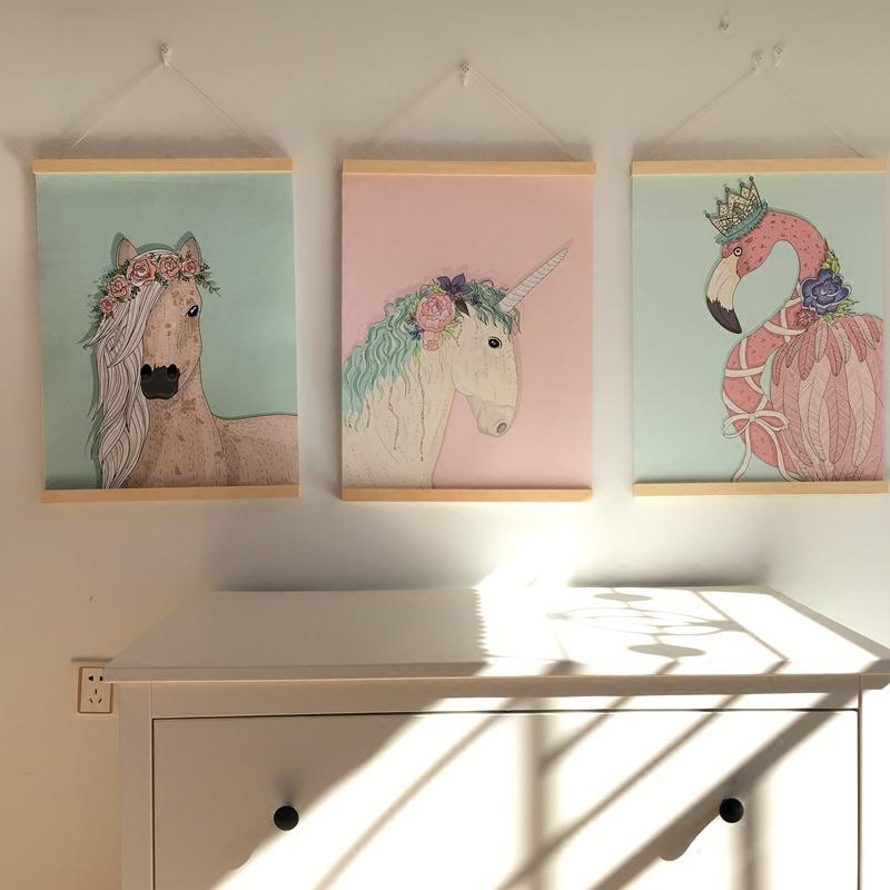 少女心房间布置挂画 家居装饰画客厅卧室餐厅三联壁画电表箱遮挡