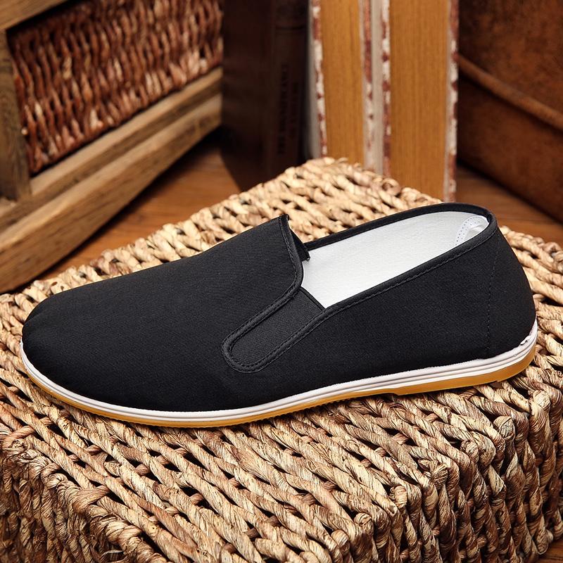 老北京布鞋男中老年爸爸鞋開車鞋大碼休閒鞋黑色布鞋春夏透氣舒適