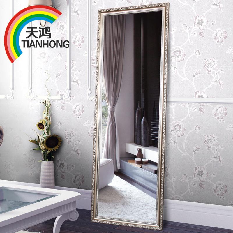 天鴻 歐式實木試衣鏡子穿衣鏡 落地鏡全身鏡掛壁鏡大鏡子壁掛