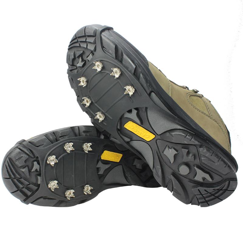戶外登山釣魚雪地冰面冰爪六齒鞋套 防滑鞋套 簡易冰抓 防滑冰爪