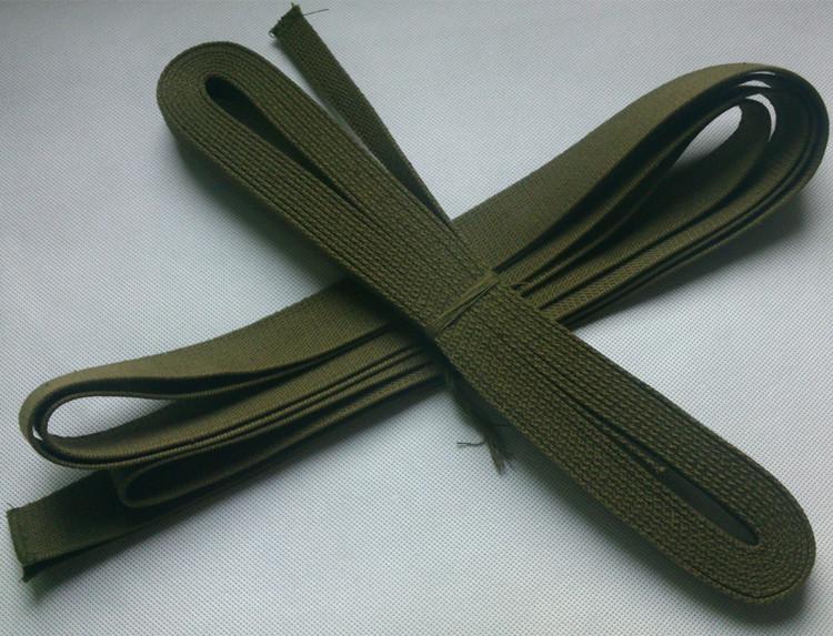 戶外軍訓打包帶 打包繩學校軍訓揹包繩軍綠編織繩 帆布繩