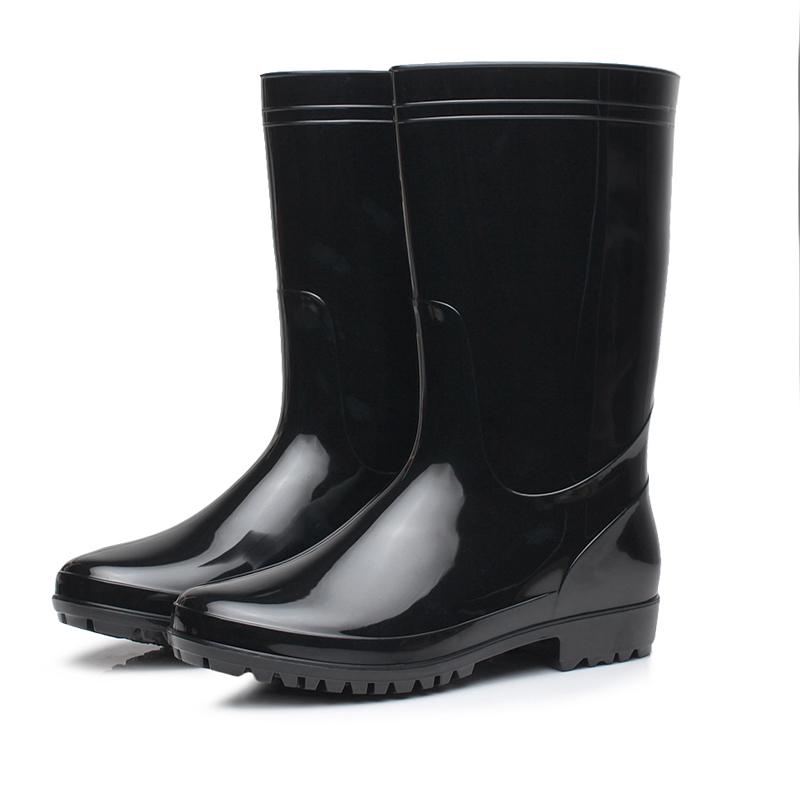 雨牧時尚男士雨靴中筒雨鞋輕便舒適水靴釣魚水鞋防滑洗車鞋膠鞋