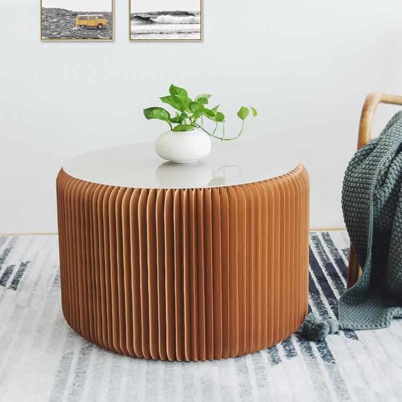 十八纸折叠伸缩纸凳北欧时尚餐桌凳家用客厅创意家具多功能长凳子