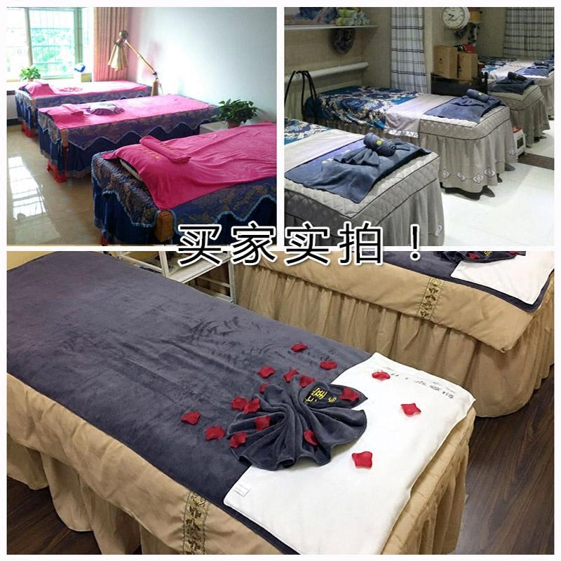 浴巾美容院铺床专用大毛巾批发理发店家用纯棉吸水速干酒店铺床巾