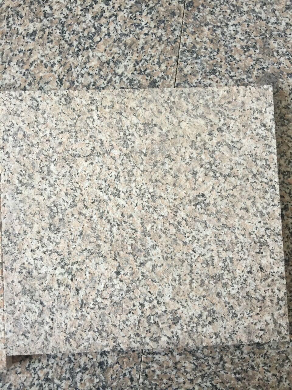 花岗岩石材 火烧板 五莲花红黑白灰路沿缘边侧平石广场拉丝盲道板