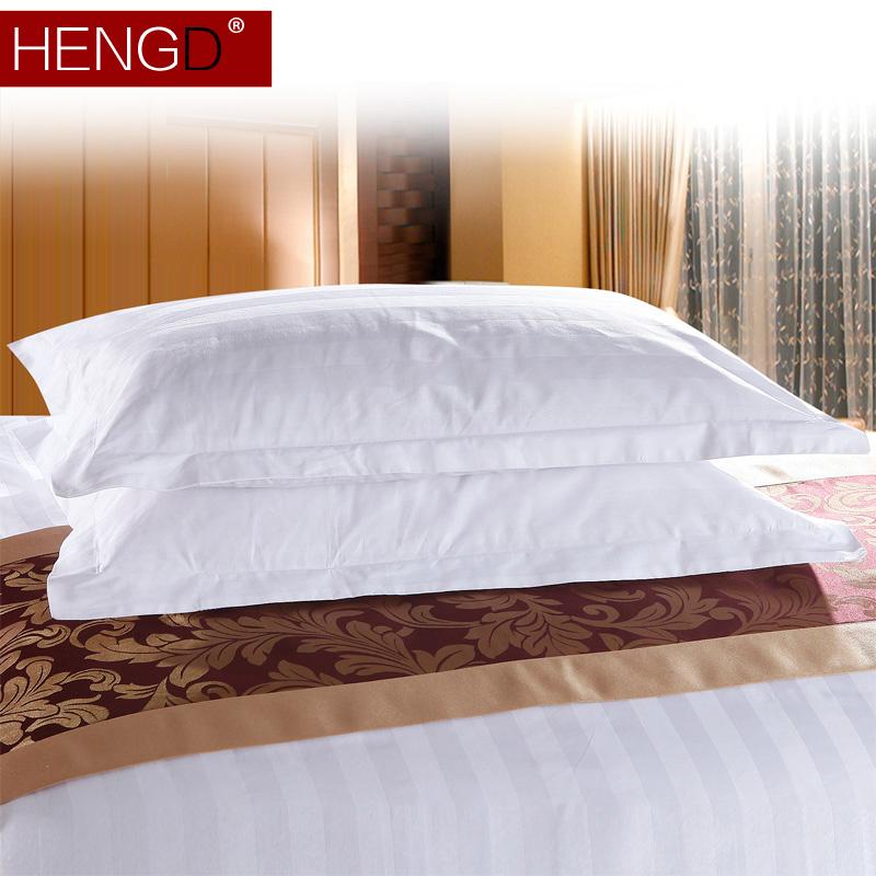 五星級酒店枕套全棉賓館床上用品枕頭套成人單人枕頭皮一對拍2只