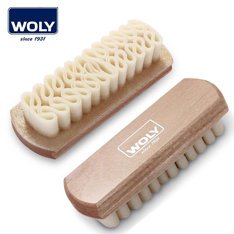 德國woly櫸木生膠絨皮刷翻毛麂皮去汙清潔刷麂皮刷