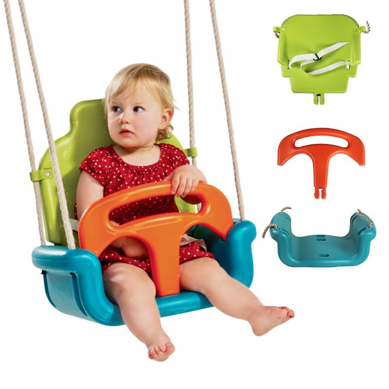 博海 儿童秋千室内家用 户外吊椅三合一加厚 宝宝荡秋千幼儿秋千