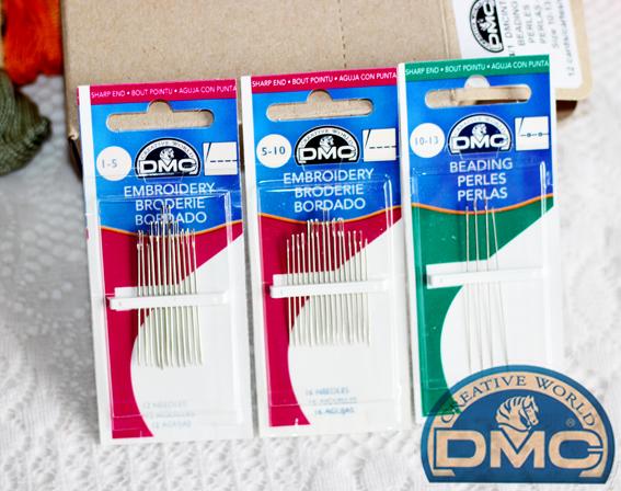 法國DMC原裝進口 DMC刺繡針1-5號5-10# 串珠針10-13# 歐式立體繡