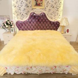 纯羊毛床褥子真皮毛一体单双人加厚冬季羊羔绒羊皮床垫1.8m1.5米