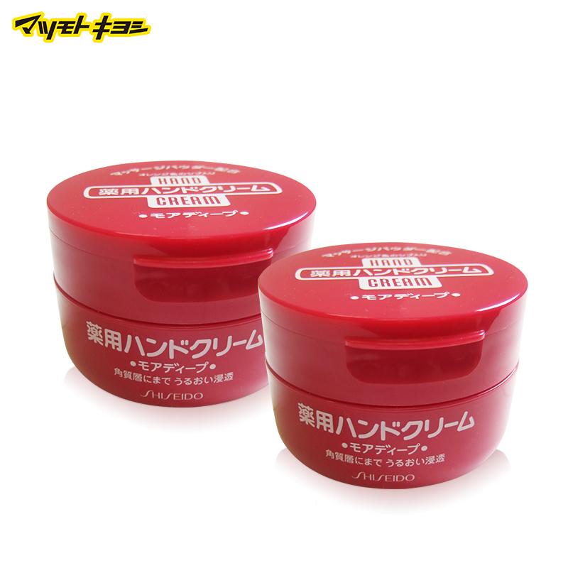 【保稅】日本資生堂尿素深層滋養美潤護手霜100g紅罐*2