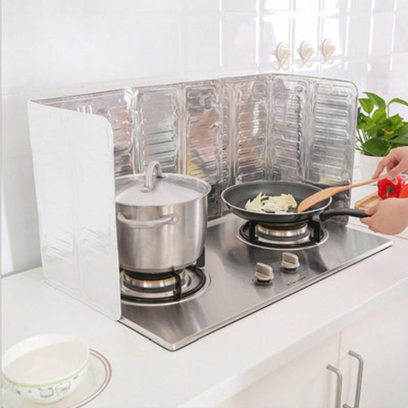 廚房煤氣灶臺擋油鋁箔隔熱板炒菜隔熱隔油防濺擋板雙灶臺