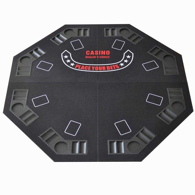 木質黑色八角桌 便攜帶四折八角桌 德州撲克桌檯面 21點 寬120CM