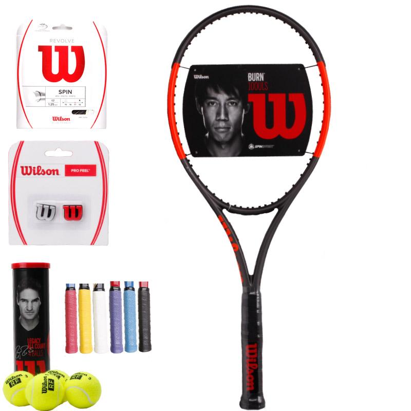 顺丰包邮Wilson威尔胜锦织圭正品全碳素单人威尔逊男女网球拍BURN