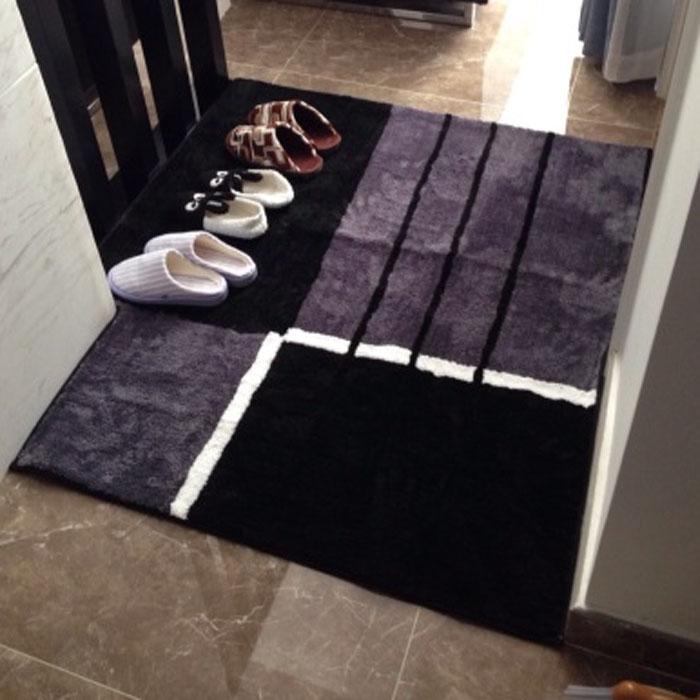 雅藤灰色耐髒門廳地墊入戶門墊進門換鞋腳墊客廳臥室茶几沙發墊子