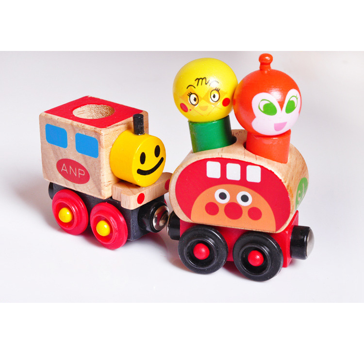 带轨道的汽车玩具有轨道的玩具车托马斯小火车套装轨道木头积木