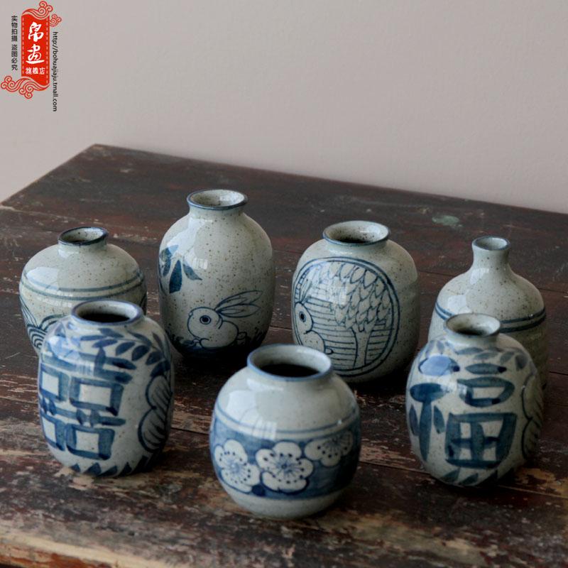 景德鎮青花瓷花瓶擺件陶瓷客廳鮮花麥穗蘆葦干花插花水養寬口復古