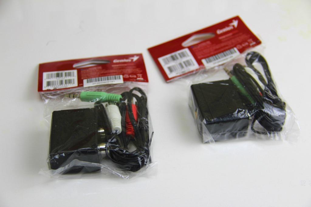 臺灣精靈3.5轉換線音訊轉接器2.1轉5.1聲道筆記本音效卡轉接線1.5米