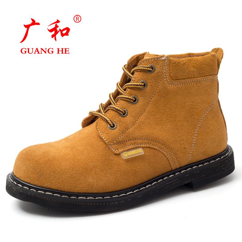 輪胎底勞保鞋男鋼包頭高幫耐磨防砸防刺工作鞋耐磨耐高溫安全鞋