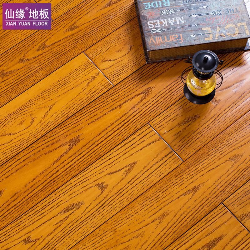 仙缘 纯实木地板 番龙眼原木锁扣 手抓纹 地暖地热地板 工厂直销