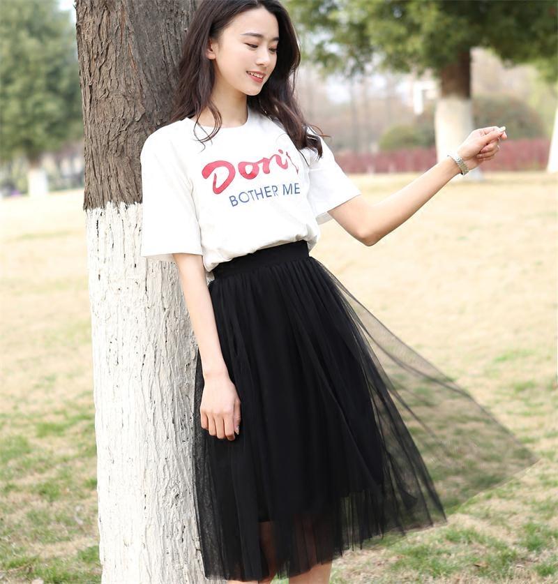 半身裙2018新款女夏韩版ins超火网纱短裙百褶小清新时尚显瘦高腰