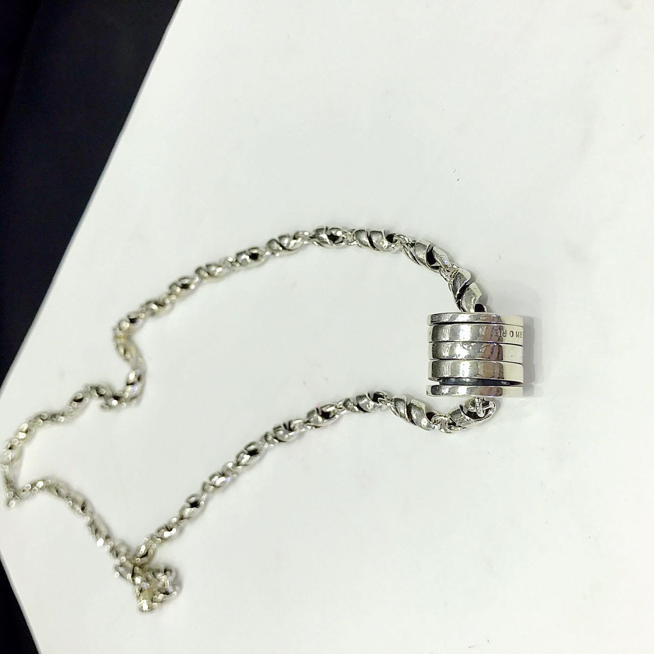厘米 纯银项链女士个姓泰银太银时来运转男女中姓超个姓项链  925 50