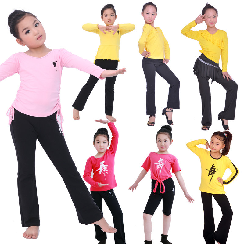 春夏短袖萊卡棉兒童舞蹈服訂製定做男女幼少練功跳拉丁上衣褲套裝