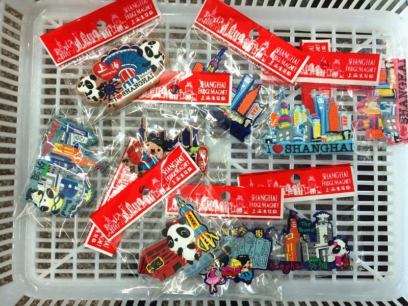 上海冰箱贴软磁性贴中国特色旅游纪念品商务礼品熊猫风景旗袍包邮