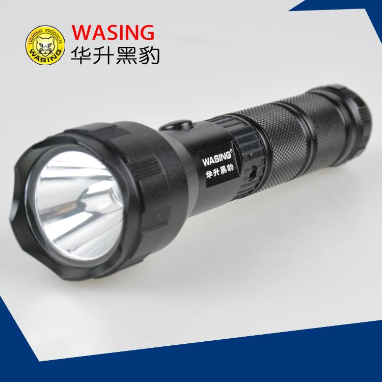 華升黑豹WFL402強光LED防水手電筒鋁合金鋰電池充電探洞日常攜帶