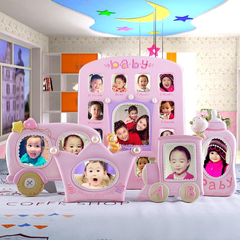 创意可爱宝宝相框摆台挂墙组合儿童婴儿周岁生