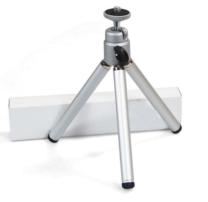 手機三腳架蘋果小米卡片數碼相機三角架自拍支架送便攜手機夾