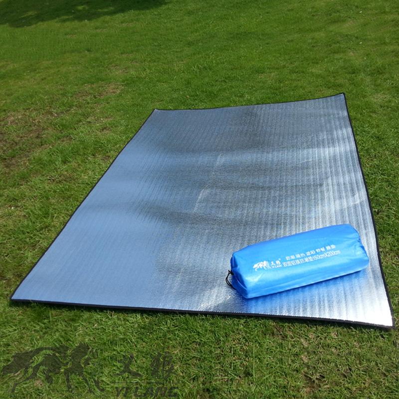 防潮墊戶外野餐墊2*2米鋁箔雙人多人超大地墊野營帳篷睡墊防水墊
