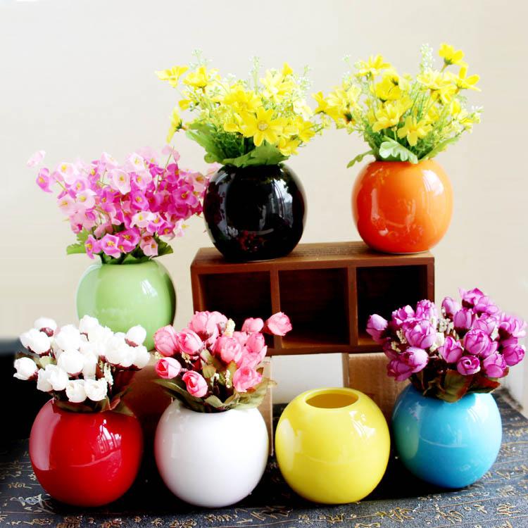 简约现代陶瓷工艺品家居家装饰品客厅房间摆件创意时尚插花小花瓶