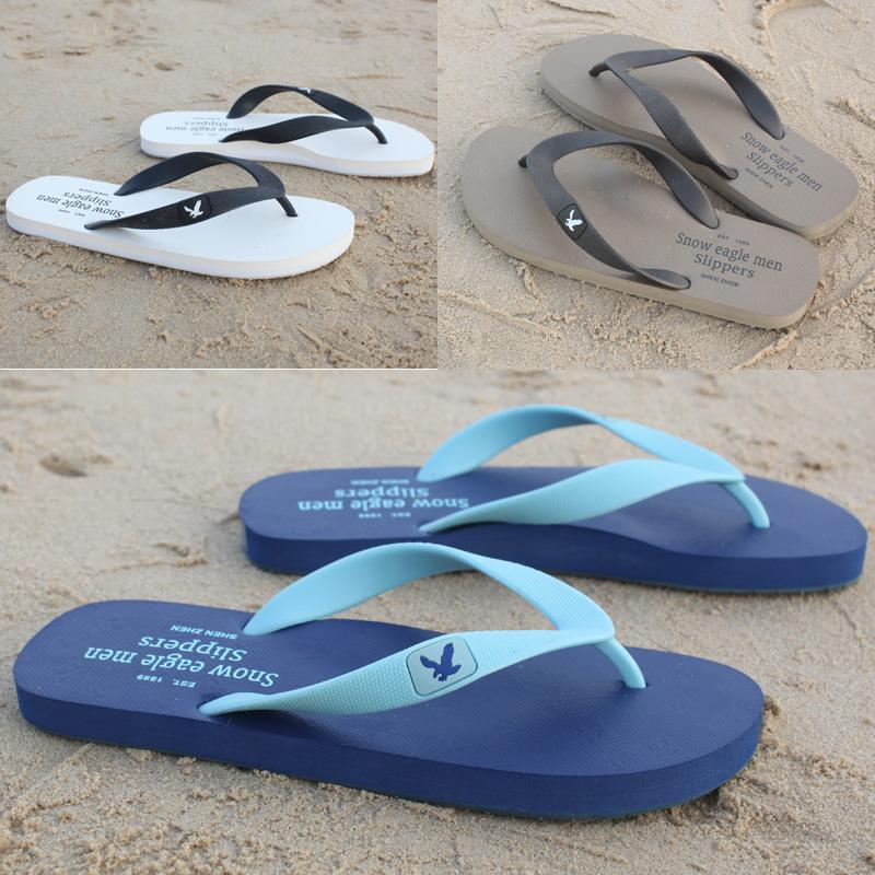 夏季新款橡膠拖鞋男人字拖男士沙灘鞋歐美潮流防滑休閒夾腳涼拖鞋